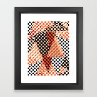 Framed Art Print featuring Dots 09 by Ioana Luscov