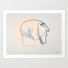 Linea della notte Art Print