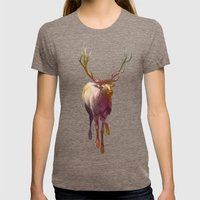 Elkish Womens Fitted Tee Tri-Coffee SMALL