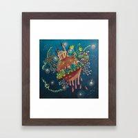 the intergalactic train Framed Art Print
