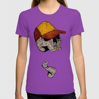 Truckin' Womens Fitted Tee Ultraviolet SMALL