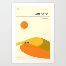 VISIT MOROCCO Art Print