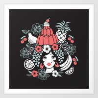 Jelly Miranda - Black Art Print