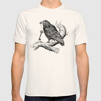 Raven's Key Mens Fitted Tee Natural SMALL