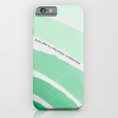 Every Plan is a Tiny Prayer to Father Time - Death Cab for Cutie Watercolor Rainbow Slim Case iPhone 6s