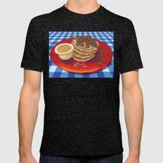 Pancakes Week 4 Mens Fitted Tee Tri-Black SMALL