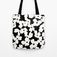 Dogwood: Black Tote Bag