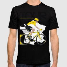 Tour De France Mens Fitted Tee Black SMALL