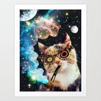 High Cat Art Print