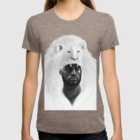 THE LION KING Womens Fitted Tee Tri-Coffee SMALL