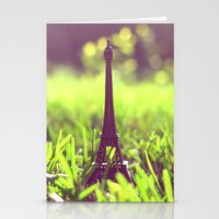 The Eiffel Tower in my backyard Stationery Cards
