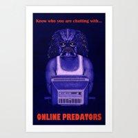 Online Predator PSA Art Print