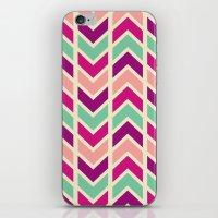 Zig Zag (purple) iPhone & iPod Skin