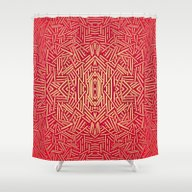 Radiate (Red Yellow Ochr… Shower Curtain