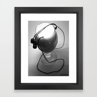 White noise Framed Art Print