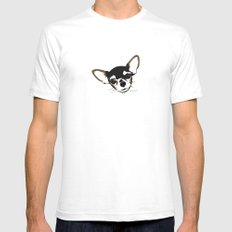 Zoe the Chihuahua SMALL Mens Fitted Tee White