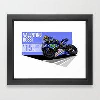 Valentino Rossi - 2015 L… Framed Art Print