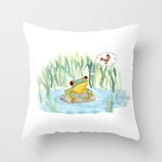 The story of the Chicken Frog Throw Pillow
