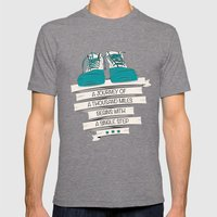 a journey of a thousand miles begins with a single step Mens Fitted Tee Tri-Grey SMALL