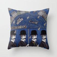 Four Men Waiting Throw Pillow