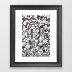 White and Grey Framed Art Print