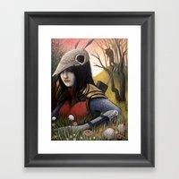 Armadillo Girl Framed Art Print