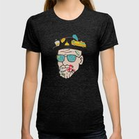 Walter Womens Fitted Tee Tri-Black SMALL