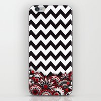 Floral Chevron. iPhone & iPod Skin