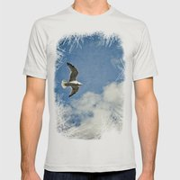 Seagull Mens Fitted Tee Silver SMALL