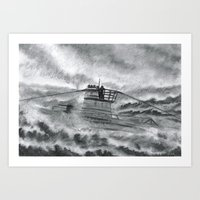 High Seas U-Boat Art Print