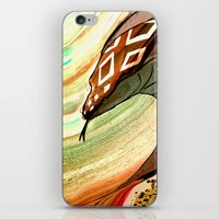 iPhone & iPod Skin featuring Cobra by Jelly and Paul