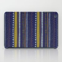 Dark Blue Pattern iPad Case