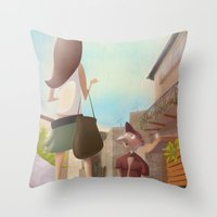That Girl from Ipanema Throw Pillow
