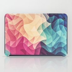 Geometry Triangle Wave Multicolor Mosaic Pattern - (HDR - Low Poly Art) iPad Case