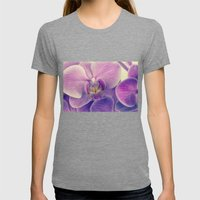 Orchid - Lilac Colored Womens Fitted Tee Tri-Grey SMALL