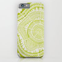 iPhone Cases featuring Lime Tree Rings by Cat Coquillette