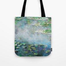 1906 Waterlilies oil on canvas. Claude Monet. Tote Bag