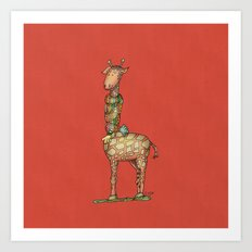 Cleo Giraffe Art Print
