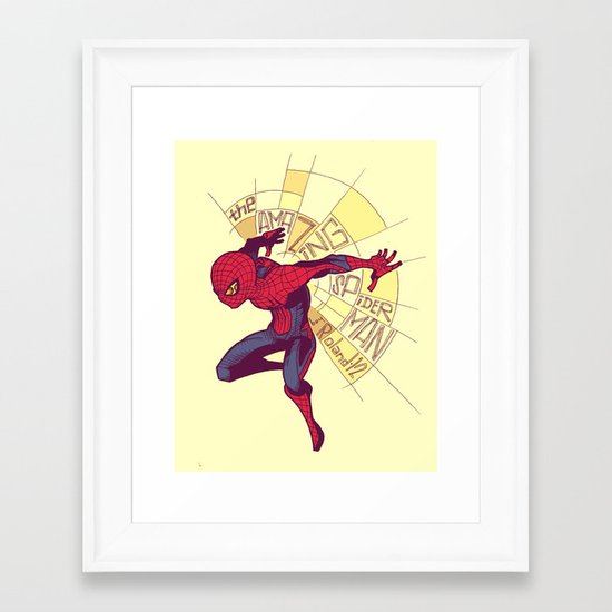The Amazing Spider-Man: Day Break Framed Art Print