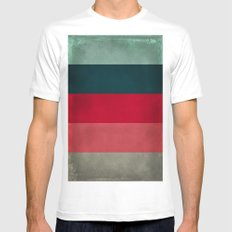 New York City Hues Mens Fitted Tee White SMALL