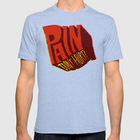 Pain Don't Hurt Mens Fitted Tee Tri-Blue SMALL