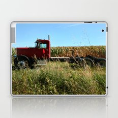Red Truck in a Corn Field Laptop & iPad Skin