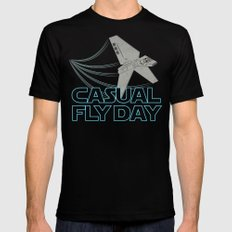 Casual Fly Day SMALL Mens Fitted Tee Black