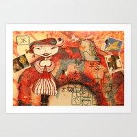 little girl Art Print