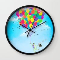 Neon Flight Wall Clock