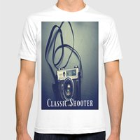 Classic Shooter Mens Fitted Tee White SMALL