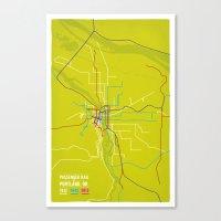 Passenger Rail Of Portla… Canvas Print