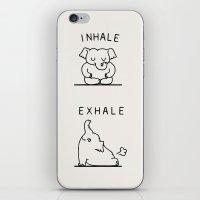 Inhale Exhale Elehant iPhone & iPod Skin