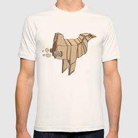 Space Chicken Mens Fitted Tee Natural SMALL