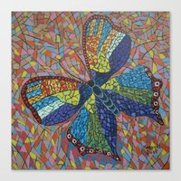 Mosaic Butterfly Canvas Print